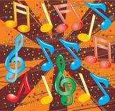 Vectorillustratie van musical Royalty-vrije Stock Afbeeldingen