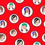 Vector illustratie van naadloos patroon Royalty-vrije Stock Foto