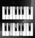 Vector illustratie van pianosleutels Stock Afbeelding