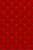 Vector illustratie van rode leerachtergrond Stock Afbeeldingen