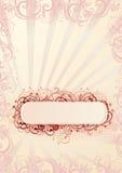 Vector illustratie van romantisch bloemenframe Stock Foto