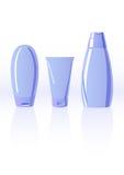 Vector illustratie van shampooflessen Stock Foto
