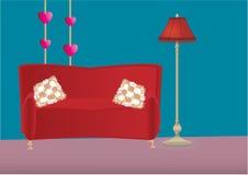 Vector illustratie van slaapkamer Stock Fotografie