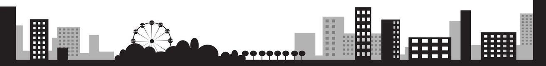 Vector illustratie van stadssilhouet Royalty-vrije Stock Foto's