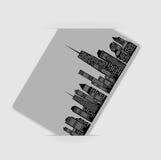 Vector illustratie van stedensilhouet. EPS 10. Royalty-vrije Stock Afbeeldingen