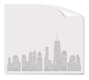 Vector illustratie van stedensilhouet. EPS 10. Stock Afbeeldingen