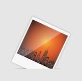 Vector illustratie van stedensilhouet. EPS 10. Royalty-vrije Stock Fotografie
