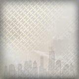 Vector illustratie van stedensilhouet. EPS 10. Stock Foto