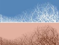 Vector illustratie van takjes in twee kleurenvarianten Stock Fotografie