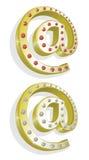 Vector illustratie van twee gouden e-mail Royalty-vrije Stock Foto's