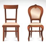 Geplaatste stoelen Stock Foto's