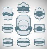 Vector illustratie van uitstekende retro etiketten royalty-vrije illustratie