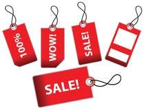 Vector illustratie van verkoopetiketten Royalty-vrije Stock Afbeeldingen