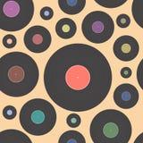 Vector illustratie van vinylschijf Royalty-vrije Stock Afbeeldingen