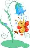 Vector illustratie van vlinder Royalty-vrije Stock Afbeeldingen