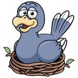 Vogel in een nest royalty-vrije illustratie