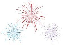 Vector illustratie van vuurwerk Stock Foto's