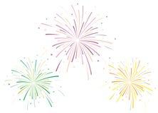 Vector illustratie van vuurwerk Stock Foto