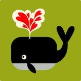 Vector Illustratie van walvis Stock Afbeelding