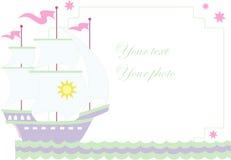 Vector illustratie van zeilboot stock illustratie