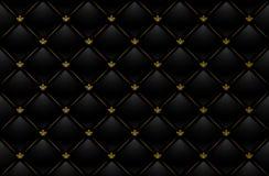 Vector illustratie van zwarte leerachtergrond Royalty-vrije Stock Foto