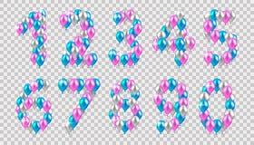 Vector illustratie Vector illustratie realistische gekleurde bal stock illustratie