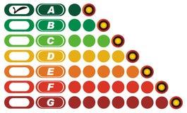 Vector Illustratie voor Energieke Efficiency royalty-vrije illustratie