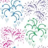 Vector illustratie - Vuurwerk. Royalty-vrije Stock Foto