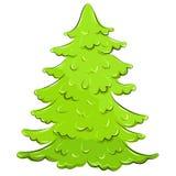 Vector illustratie. weelderige Kerstboom Stock Afbeelding