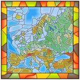 Vector illustratiekaart van Europa. Stock Afbeeldingen