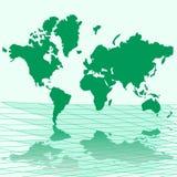 Vector illustratiekaart van wereld Royalty-vrije Stock Afbeelding