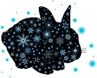Vector illustratiesilouette van konijn Royalty-vrije Stock Afbeeldingen