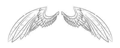 Vector vleugels stock illustratie