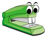 Stapler animal. Vector illustratio of a green stapler animal royalty free illustration