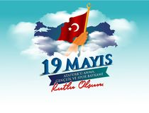 Free Vector Illustration 19 Mayis Ataturk`u Anma, Genclik Ve Spor Bayramiz , Translation: 19 May Commemoration Of Ataturk, Youth And Sp Royalty Free Stock Images - 145595439