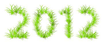 Vector illustration of 2012 year Stock Photography