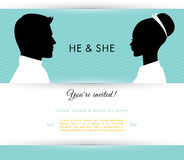 He & She Stock Photos