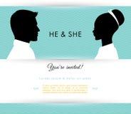 He & She Stock Photos