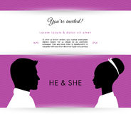 He & She Royalty Free Stock Photos