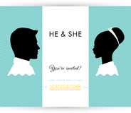 He & She Stock Images