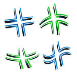 Vector illustration of 3D cross Stock Photography