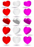 Vector illustration of 3D heart shape Royalty Free Stock Photography