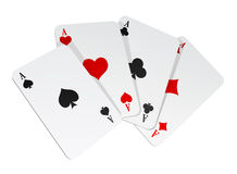 Vector illustration of 4 cards Royalty Free Stock Photos