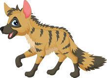 Vector illustration of aardwolf cartoon Royalty Free Stock Photo