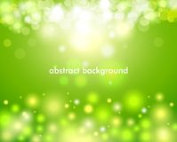 Highlight effect, gloss color bokeh lights and tinsel. Vector illustration of abstract background with color highlights, gloss color bokeh lights and tinsel Stock Photography
