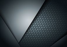 Vector illustration abstract background dark and black metal carbon fiber. Vector illustration abstract background dark and black overlay metal steel carbon stock illustration