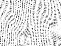 Vector Illustration of abstract big data numeric business background Royalty Free Stock Photos