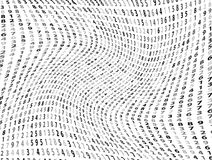 Vector Illustration of abstract big data numeric business background Stock Photo