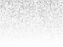 Vector Illustration of abstract big data numeric business background Stock Image