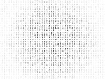 Vector Illustration of abstract big data numeric business background Stock Photography